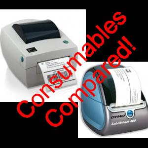 Label Printing Cost Comparison - Dymo/Zebra Printer