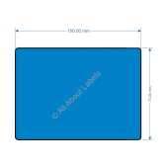 100mm x 73mm Blue Labels - 82200