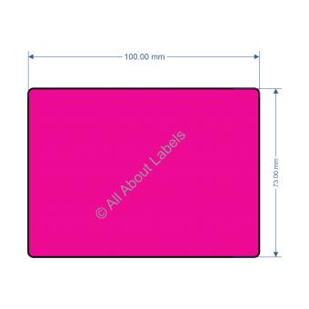 100mm x 73mm Rhodamine Red Labels - 82201
