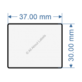 37mm x 30mm Labels - 82029