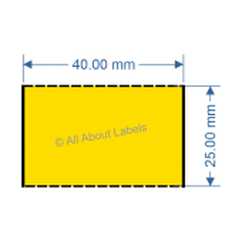 40mm x 25mm Yellow DT Data Strip - 81049