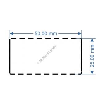 50mm x 25mm White DT Data Strip - 82033