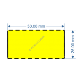 50mm x 25mm Yellow DT Data Strip - 82034