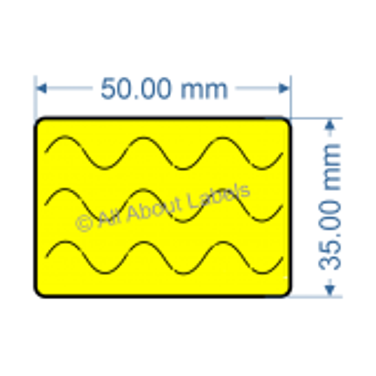 50mm x 35mm Bunnings Nursery Label - 97NS5035BUN-Y(76)