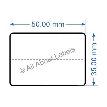 50mm x 35mm Nursery Synthetic Bopp Labels - 97NSCP5035(25)