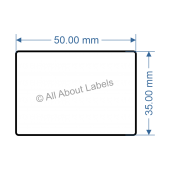 50mm x 35mm Nursery Synthetic Bopp Labels - 97NS5035(38)