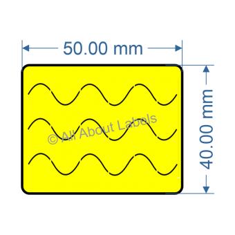 50mm x 40mm Bunnings Nursery Label - 97NS5040BUN-Y(38)