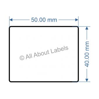 50mm x 40mm Nursery Synthetic Bopp Labels - 97NS5040(25)