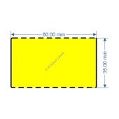 60mm x 35mm Yellow TT Data Strip - 82050