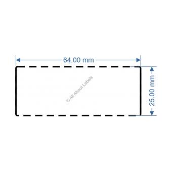 64mm x 25mm White TT Data Strip - 82041
