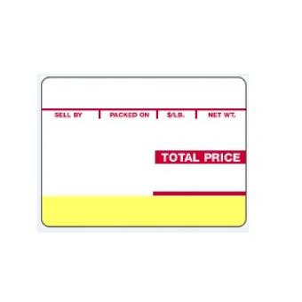 64mm x 47mm Ishida 301 Scale Labels - 82387
