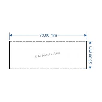 70mm x 25mm White TT Data Strip - 81052