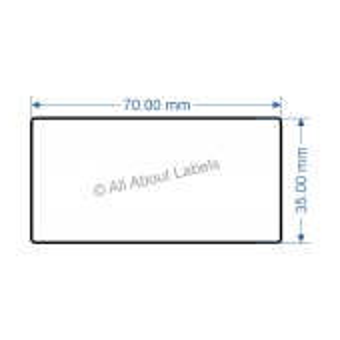 70mm x 35mm Nursery Synthetic Bopp Labels - 97NS57035(25)