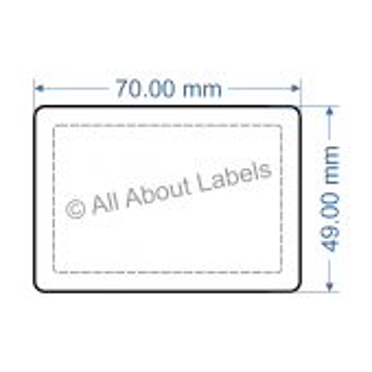 70mm x 49mm Nursery Synthetic Bopp Labels - 97NSSP7049(25)