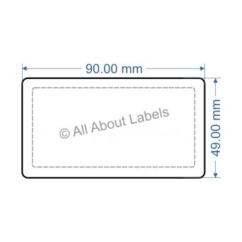 90mm x 49mm Nursery Synthetic Bopp Labels - 97NSSP9049(25)